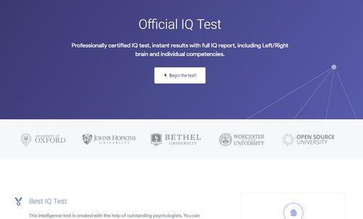 Official IQ Test | Get Worm